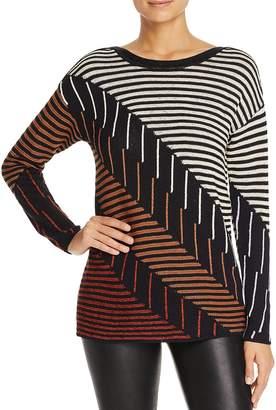 Nic+Zoe Lagoon Mixed Stripe Sweater