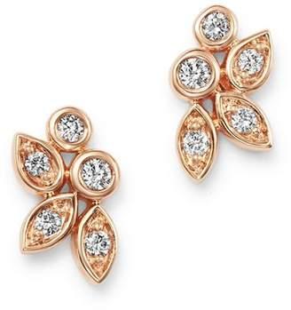 Bloomingdale's Diamond Petal Stud Earrings in 14K Rose Gold, 0.15 ct. t.w. - 100% Exclusive