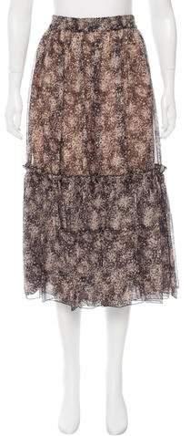 Michael Kors Silk Midi Skirt w/ Tags