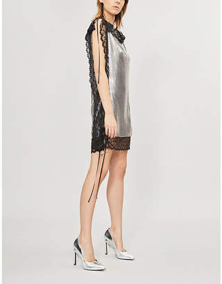 Christopher Kane Lace-trimmed chainmail dress