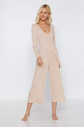 50c4da136b6 Nasty Gal Just Busy RN Ribbed Lounge Jumpsuit