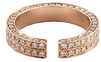 Dauphin Diamond 18k rose gold open ring