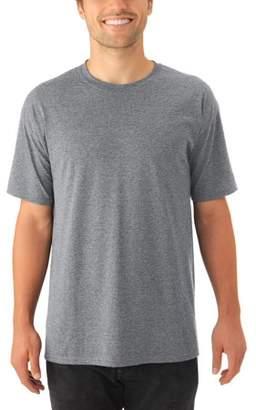 JERZEES Mens Tri-blend Short Sleeve Crewneck T Shirt, 2 Pack