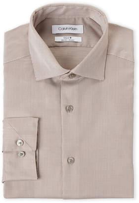 Calvin Klein Hazelnut Basketweave Slim Fit Stretch Dress Shirt