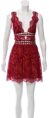 For Love & Lemons Sleeveless Lace Dress