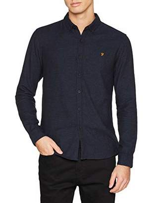 78c29c66f7da32 Farah Men s Kreo Slim Fit Plain Button Down Long Sleeve Business Shirt