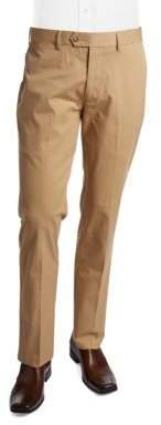 Black & Brown Black Brown Cotton Slim-Fit Trousers