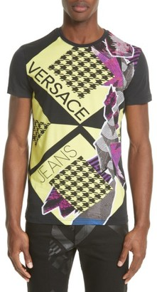 Men's Versace Jeans Houndstooth Collage T-Shirt $175 thestylecure.com