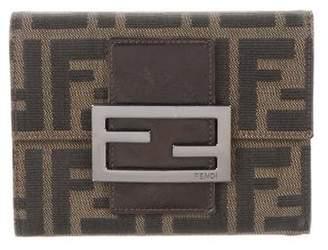 Fendi Zucca Compact Wallet