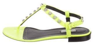 Balenciaga Studded T-Strap Sandals