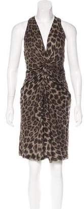 Ter Et Bantine Draped Leopard Print Dress