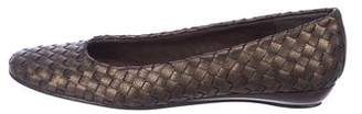 Stuart Weitzman Woven Leather Flats