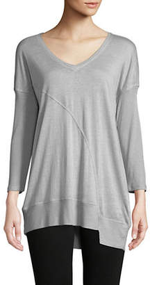 Calvin Klein V-Neck Three-Quarter Sleeve Tee