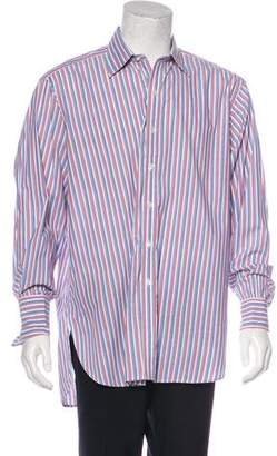 Turnbull & Asser Striped French Cuff Dress Shirt