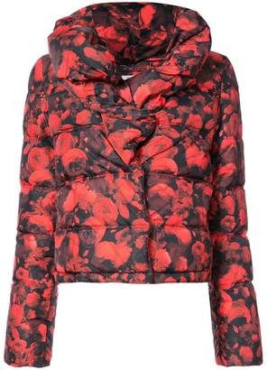 Givenchy floral print puffer jacket
