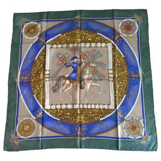 Hermes Khaki Silk Silk handkerchief