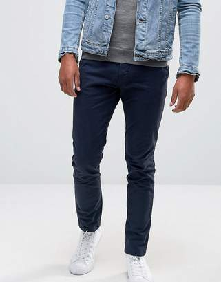 Pull&Bear Skinny Chinos In Navy