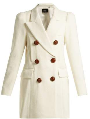 Isabel Marant Double Breasted Pea Coat - Womens - Ivory