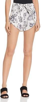 Aqua Palm Print Shorts - 100% Exclusive
