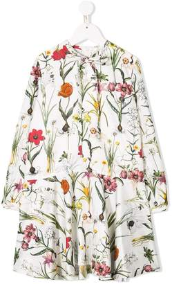 Oscar de la Renta Kids flower harvest printed dress