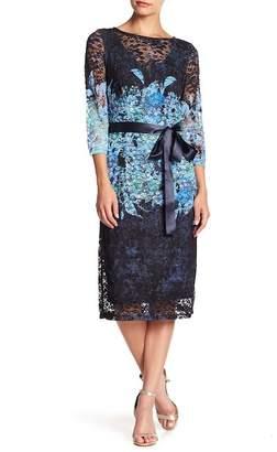 Chetta B Printed Lace Dress