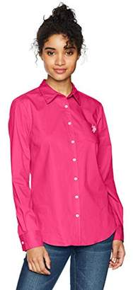 U.S. Polo Assn. Women's Solid Single Pocket Long Sleeve Shirt