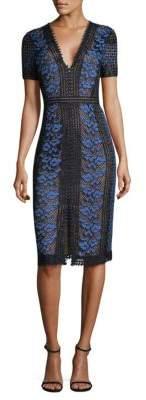 BCBGMAXAZRIA V-Neck Lace Dress