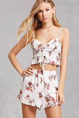 FOREVER 21+ Floral Cami and Shorts Set $45 thestylecure.com