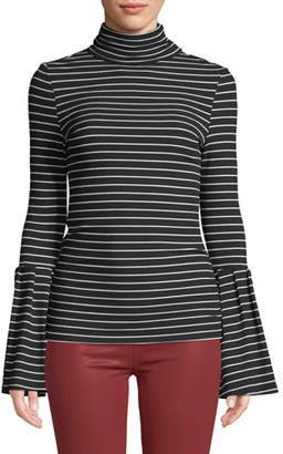 Paige Kenzie Striped Turtleneck Sweater