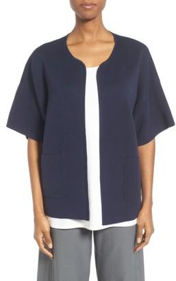 Women's Eileen Fisher Silk & Organic Cotton Cardigan $318 thestylecure.com