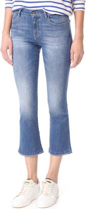 DL1961 Lara Instasculpt Cropped Flare Jeans $188 thestylecure.com