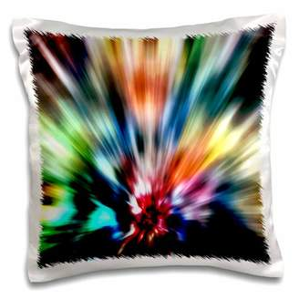 3dRose Burst of Colors - retro tie dye style of colorful starburst graphic - Pillow Case, 16 by 16-inch