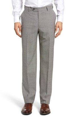 Men's Berle Flat Front Houndstooth Wool Trousers $150 thestylecure.com