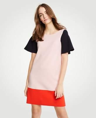 Ann Taylor Petite Colorblock Sweater Shift Dress
