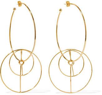 Mercedes Salazar Dos Circulos Gold-plated Earrings