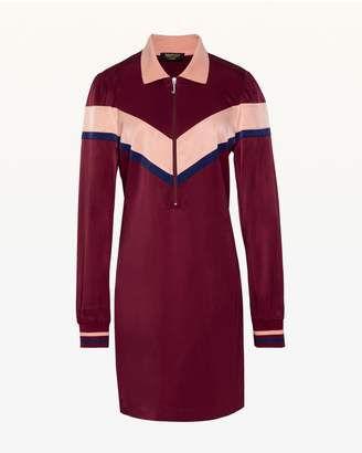 Juicy Couture Colorblock Satin Track Dress