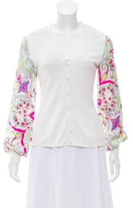 Emilio Pucci Paneled Long Sleeve Cardigan