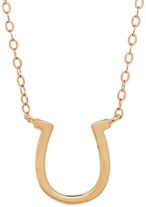 Lord & Taylor 14K Yellow-Gold Horseshoe Pendant Necklace $540 thestylecure.com