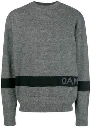 Oamc contrast logo sweater