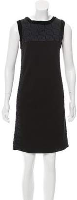 Tory Burch Paneled Embroidered Dress