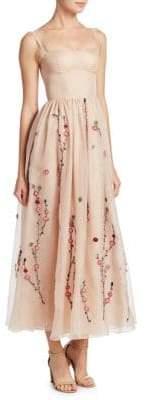 ADAM by Adam Lippes Silk Cold-Shoulder Organza Bustier Gown