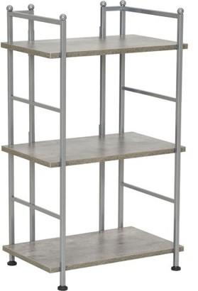 Household Essentials Narrow 3-Shelf Storage Rack, Concrete