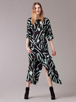 Diane von Furstenberg Front Tie Floor-Length Dress