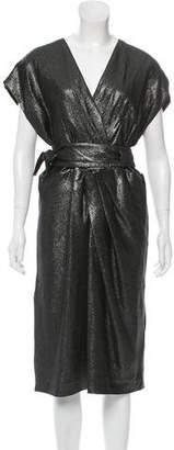 J. Mendel Glitter Pleated Dress