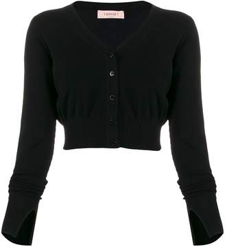 Twin-Set v-neck crop cardigan