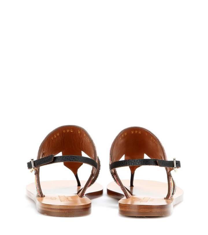 Valentino Kilim embroidered sandals