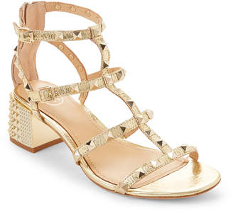 Ash Ariel Rolls Studded Caged Leather Sandals