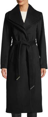 T Tahari Alice Double-Collar Maxi Coat