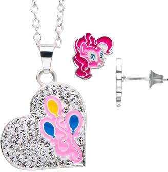 My Little Pony Pinkie Pie Heart Pendant and Stud Earring Set