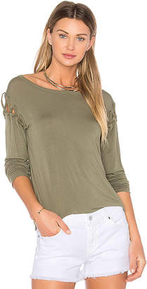 Bailey 44 Old Havana Top in Olive $158 thestylecure.com